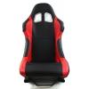 Krēsls Monza, melns/sarkans, + sliedes, āda